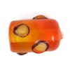 Glass Lamp Bead 13x9mm Roller Orange